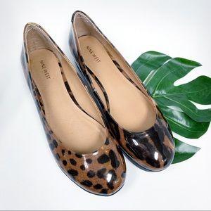 NINE WEST Leopard Print ballet flats patent 10